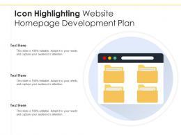 Icon Highlighting Website Homepage Development Plan