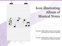Icon Illustrating Album Of Musical Notes