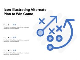 Icon Illustrating Alternate Plan To Win Game
