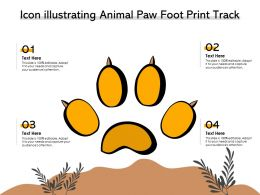 Icon Illustrating Animal Paw Foot Print Track