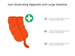 Icon Illustrating Appendix And Large Intestine