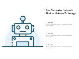Icon Illustrating Automatic Machine Robotics Technology