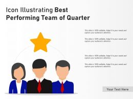 Icon Illustrating Best Performing Team Of Quarter