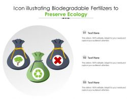 Icon Illustrating Biodegradable Fertilizers To Preserve Ecology