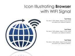 Icon Illustrating Browser With WIFI Signal