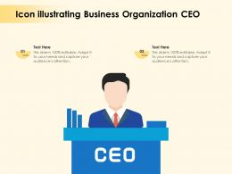 Icon Illustrating Business Organization CEO