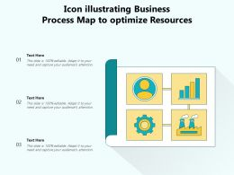 Icon Illustrating Business Process Map To Optimize Resources