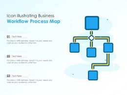 Icon Illustrating Business Workflow Process Map