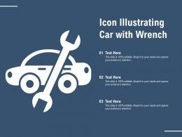 Icon Illustrating Car With Wrench