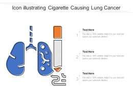 Icon Illustrating Cigarette Causing Lung Cancer