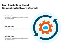 Icon Illustrating Cloud Computing Software Upgrade