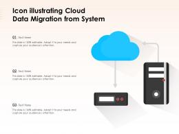Icon Illustrating Cloud Data Migration From System