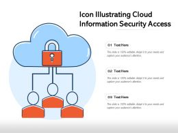 Icon Illustrating Cloud Information Security Access