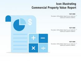 Icon Illustrating Commercial Property Value Report