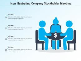 Icon Illustrating Company Stockholder Meeting