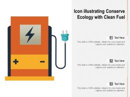 Icon Illustrating Conserve Ecology With Clean Fuel