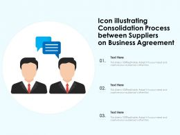Icon Illustrating Consolidation Process Between Suppliers On Business Agreement