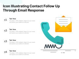 Icon Illustrating Contact Follow Up Through Email Response