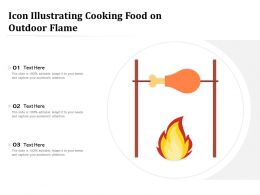 Icon Illustrating Cooking Food On Outdoor Flame