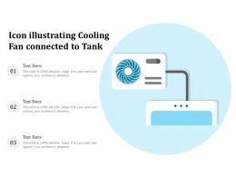 Icon Illustrating Cooling Fan Connected To Tank