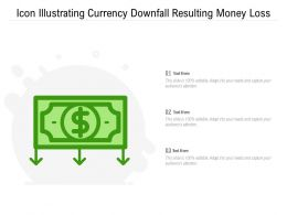 Icon Illustrating Currency Downfall Resulting Money Loss