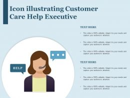 Icon Illustrating Customer Care Help Executive