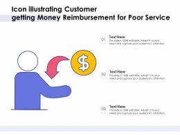 Icon Illustrating Customer Getting Money Reimbursement For Poor Service