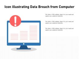 Icon Illustrating Data Breach From Computer