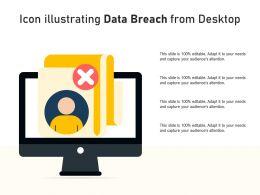Icon Illustrating Data Breach From Desktop