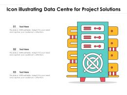 Icon Illustrating Data Centre For Project Solutions