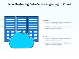 Icon Illustrating Data Centre Migrating To Cloud