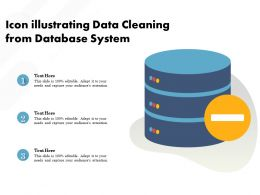 Icon Illustrating Data Cleaning From Database System