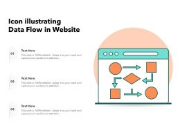 Icon Illustrating Data Flow In Website