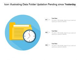 Icon Illustrating Data Folder Updation Pending Since Yesterday