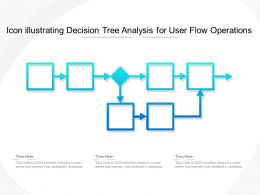 Icon Illustrating Decision Tree Analysis For User Flow Operations