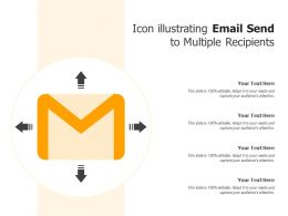 Icon Illustrating Email Send To Multiple Recipients