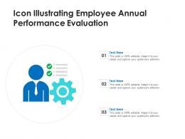 Icon Illustrating Employee Annual Performance Evaluation