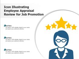 Icon Illustrating Employee Appraisal Review For Job Promotion