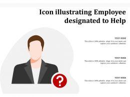 Icon Illustrating Employee Designated To Help