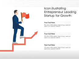 Icon Illustrating Entrepreneur Leading Startup For Growth