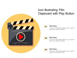 Icon Illustrating Film Clapboard With Play Button