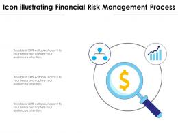 Icon Illustrating Financial Risk Management Process