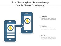 Icon Illustrating Fund Transfer Through Mobile Finance Banking App