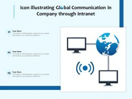 Icon Illustrating Global Communication In Company Through Intranet