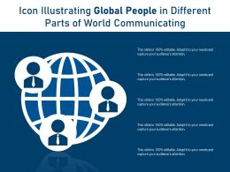 Icon Illustrating Global People In Different Parts Of World Communicating