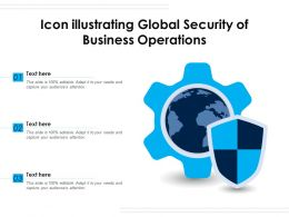 Icon Illustrating Global Security Of Business Operations