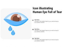 Icon Illustrating Human Eye Full Of Tear