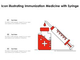 Icon Illustrating Immunization Medicine With Syringe