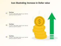 Icon Illustrating Increase In Dollar Value