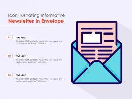 Icon Illustrating Informative Newsletter In Envelope